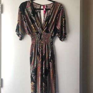 NWOT! Midi Dress with open Back